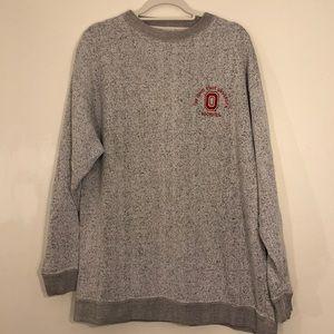 Men's Ohio State Buckeyes Gray Pullover Sweater L
